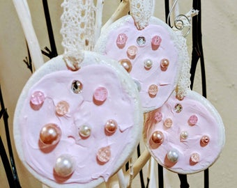 Shabby Chic Pink Pearl Ornament