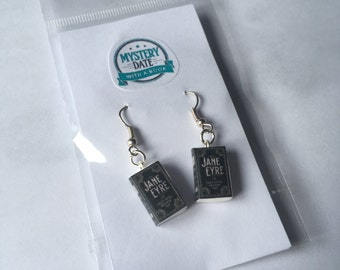 Jane Eyre mini book earrings