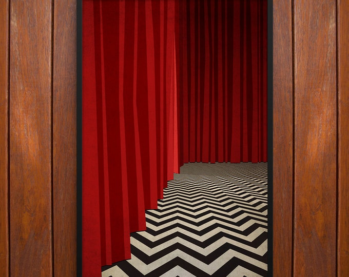 Twin Peaks Poster or Framed Print, Red Room, Black Lodge