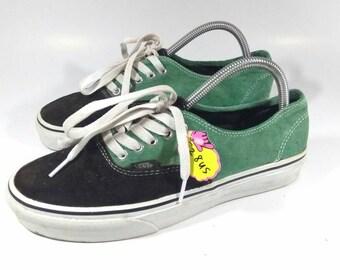 Vintage Vans Low Cut Two Layer Color Casual Vans shoes, Skate Vans Unisex Shoes, Custom Vans shoes