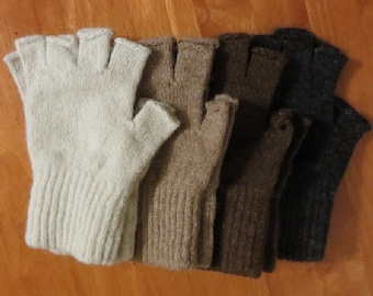 Alpaca Fingerless Gloves Medium
