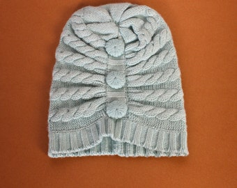 Mint Bella Cashmere Hat