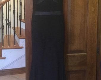Vintage black maxi mesh dress