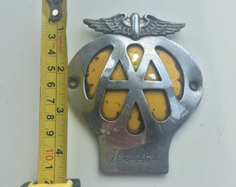 Vintage 1960s AA membership badge in nice condition  number 7B64464