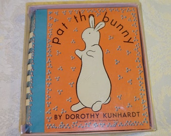 Vintage Pat the Bunny Children's Book 1960's Dorotyh Kunhardt Illustrated Touch and Feel  Sensory