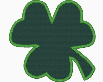 Clover applique embroidery design FREE WITH PURCHASE