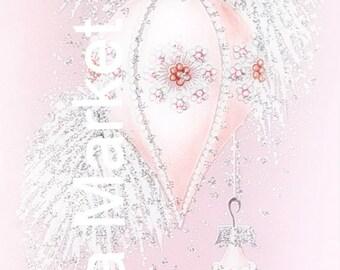 Mid Century Christmas Image-Shabby Pink Shiny Brite-Shabby-Chic-Retro-Christmas Gift Tags