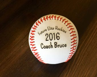 Engraved Baseball, Custom Message Baseball, Baseball, Coach Gift, Baseball Gift, Laser Engraved Ball, Personalized Baseball, tball coach