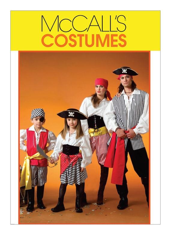 Sewing Pattern for Pirate CostumesMcCallu0027s Pattern 4952 HalloweenCosplay Womens Pirate Costume Mens Pirate Costume Childs Pirate  sc 1 st  Etsy & Sewing Pattern for Pirate CostumesMcCallu0027s Pattern 4952