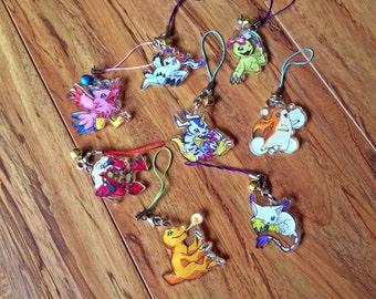 Digimon Adventure - Phone Charm Set