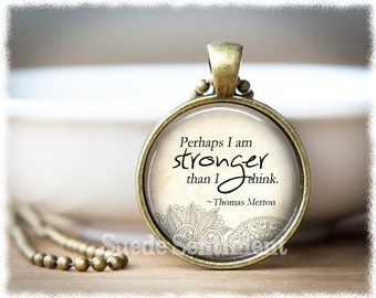 Inspirational • Stronger Than I Think • Strength Jewelry • Recovery Gift • Motivational • Mental Health