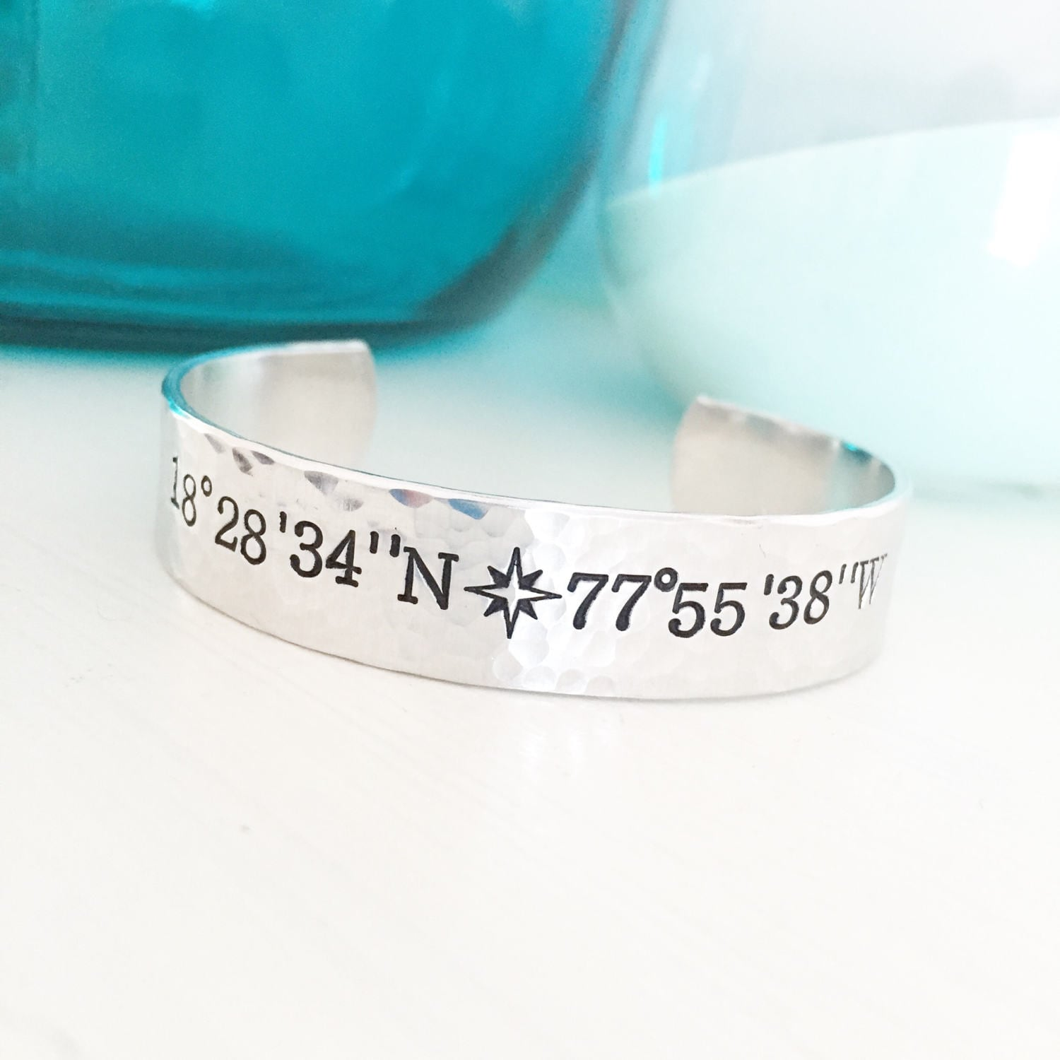 long hand stamped latitude cuff lat bracelet sale bracelets longitude products