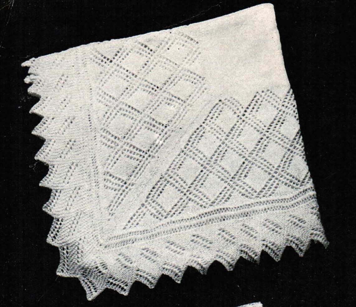 Vintage Baby Shawl Patterns PDF (set of 2) / Monarch Baby Blanket ...