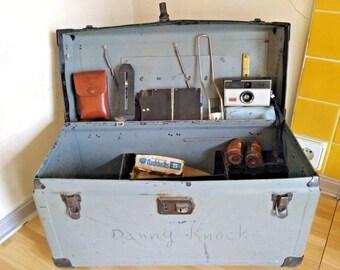 Vintage box of a professional photographer. USA