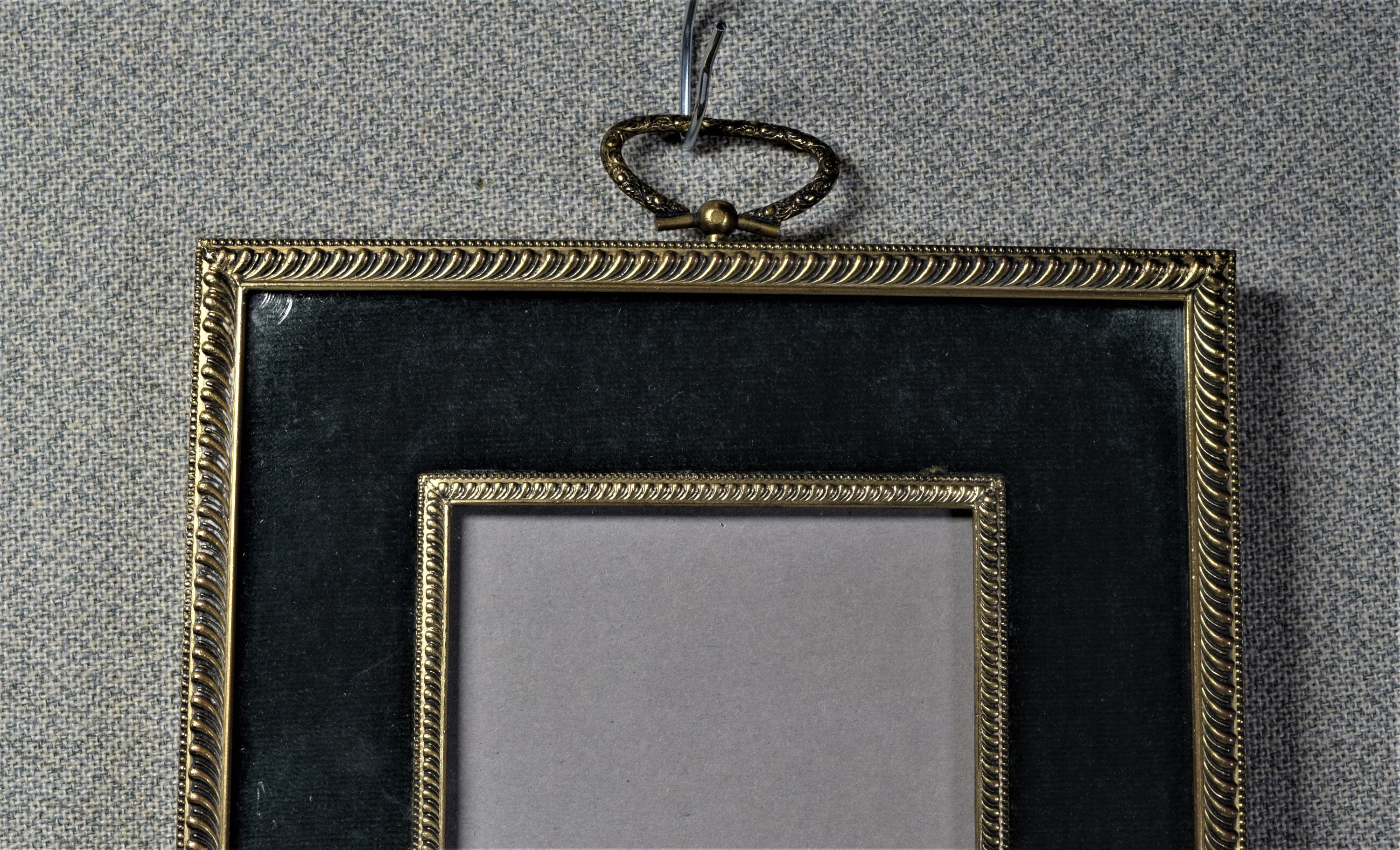 3x4 Frame Photo Frame Vintage Metal with Velvet Mat and Choice of ...
