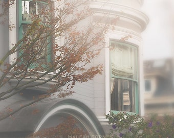 Window Photography, San Francisco Photo, Houses, Victorian Wall Art, Architecture Print, Pastel, Dreamy, California Art, Vintage, SF