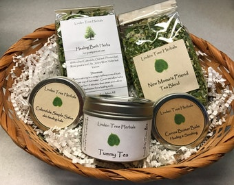 Herbal Baby Gift Basket - The Basics // Botanical Skin Care and Herbal Healing for Mama and Baby