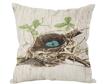 "Bird's Nest 18x18"" Pillow Cover"