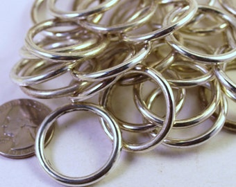Sliver Plated CCB Acrylic Large Rings, 30mm, Wholesale Beads