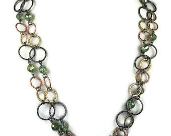 Joan Rivers Long Beaded Chain Necklace