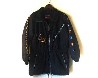 1980s 1990s Aztec southwestern Kaelin ski coat