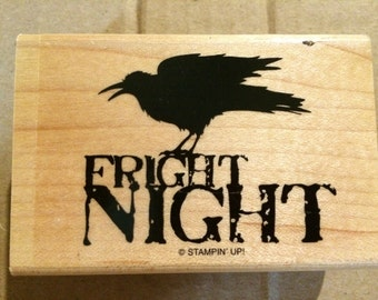 Stampin Up MIDNIGHT RAVEN  fright night raven