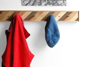 Coat Hook Recycled Wood Entryway Rack