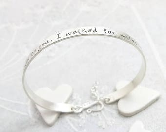 Personalized Silver Cuff, Silver bracelet, Bracelet for her, Womens bracelet, Silver cuff, Custom bracelet, Gift for her, Women, For her