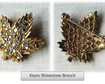 Keyes Maple Leaf Brooch