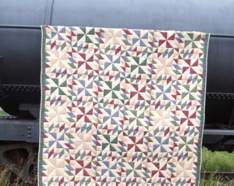 Queen Quilt | Hand Stitched | Rustic Quilt | Patchwork Quilt | Hand Quilt | Queen Bedspread | Handmade Quilt | Homemade Quilt