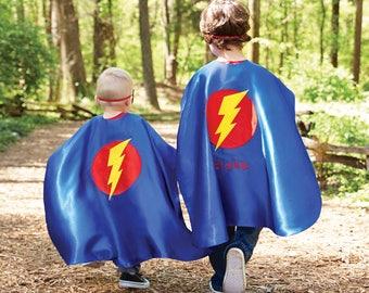 Monogrammed Super Hero Cape Set