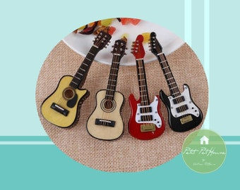 1:12 Miniature Guitar - Acoustic/ Electric - FREE SHIPPING