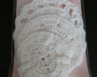 Hand Crocheted Doilies - Variety pack of 3