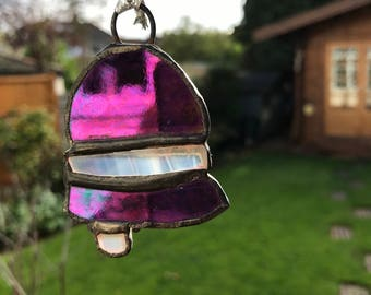 Stained glass Christmas Bell Tree Ornament
