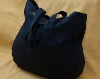 Everyday tote bag / oversized bag / casual bag / shoulder bag / faux suede bag / black color