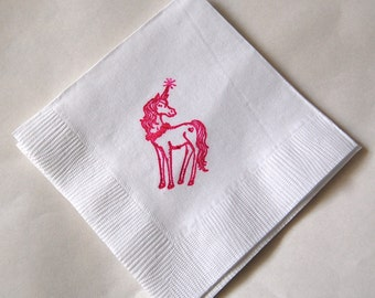 Unicorn Beverage Napkins / Set of 50 / Perfect for your Unicorn Birthday Party