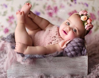 3-6 months - Sitter props - Baby girl props - Sitter girl - Sitter romper - Infant props - Sitter size  - Baby girl romper-Sitter girl props
