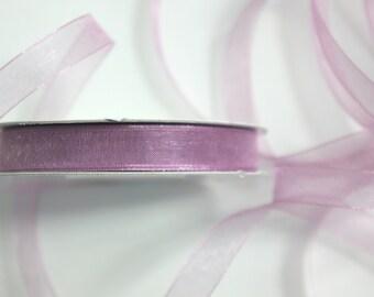 """3/8"""" Organza Ribbon - Rosy Mauve - 25 Yard Spool of Ribbon"""