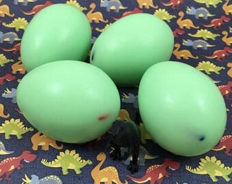 Dinosaur Egg Goat's Milk Soap With Dinosaur Toy Hidden Inside | Children's Soap | Gift for Kids | Soap Favor | Soap for Kids | Egg Soap