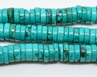 "16""  Green   Turquoise  Heishi  Beads  Gemstone  8mm"