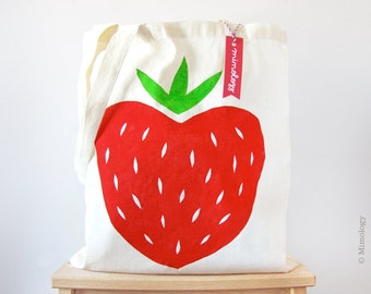 Strawberry Tote Bag / Mi media fresa