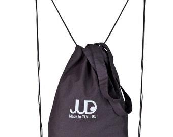 Black shopping bag  multi way rucksack SALE black tote bag - black backpack - drawstring backpack  judtlv canvas backpack - hipster backpack