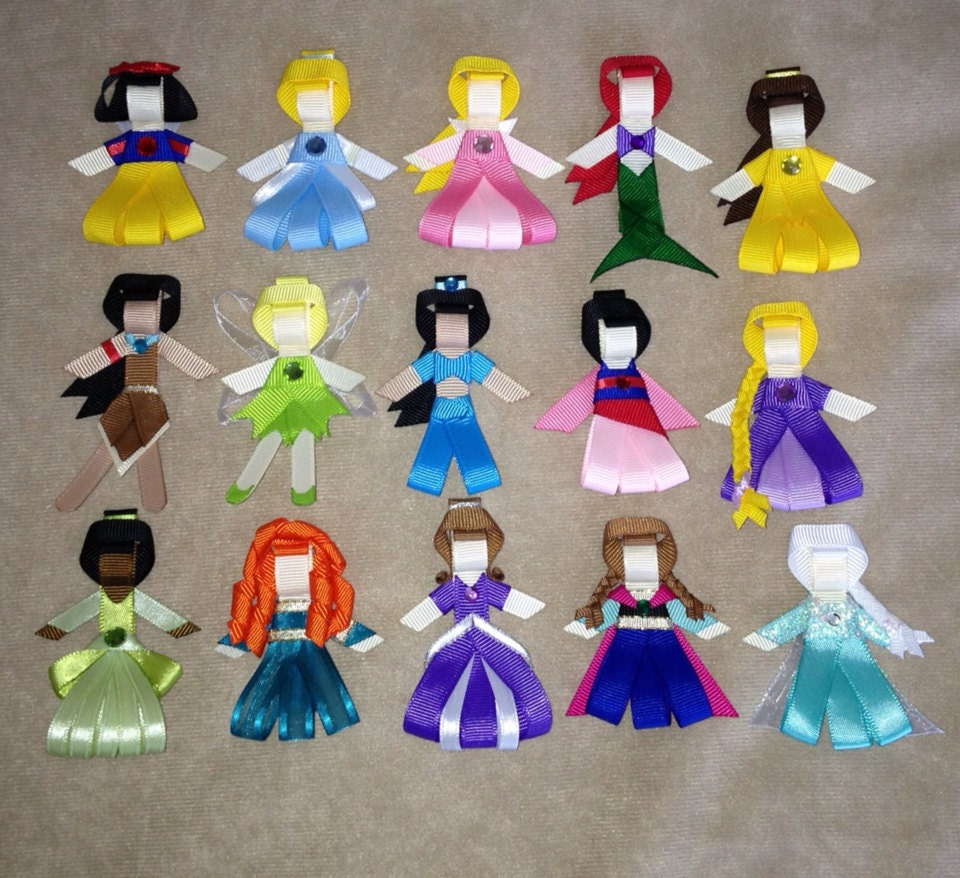 Princess Tiana Hair: You Pick 3 Disney Princess Hair Clips