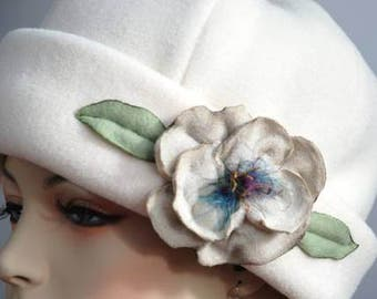 PDF, 2 patterns, FLOWER TUTORIAL, 2 hat patterns , pill box hat, polar fleece hat pattern
