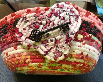 Key to My Heart Coiled Clothesline Basket #2