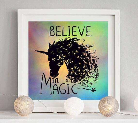 Unicorn quote art print