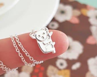 Koala Necklace - Animal Jewlery - Zoo - Koala Jewelry - Leaf - Branch - Dainty Chain - Silver - Gold - Gift Ideas - Best Friend Gift - Gift