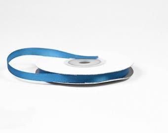 6 mm - spool of 25 meters of 366 ref NAVY blue satin ribbon