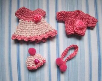 Baby Clothe Set 1 12 scale mini dress set baby 4 pieces scale 1:12