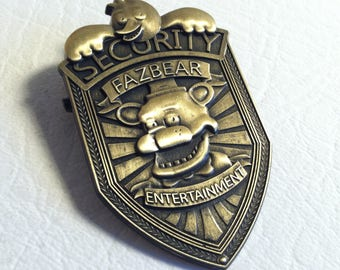 Five Nights At Freddy's Lapel Pin Security Badge Freddy Fazbear Entertainment Goodie Bag Party Favors Brooch